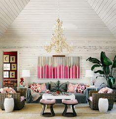 Alessandra Branca Interior Design, Harbour Island Retreat featured in Lonny Magazine August 2014