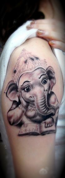 Elephant #queen #tattoo