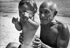 peopl, robert capa, sons, children, artist, portrait, pablopicasso, pablo picasso, photographi