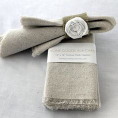 4 Cloth Napkins Unbleached Cotton Set of 4 by HomeGoodsAlacarte, $16.00