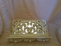 French style shelf with key holder and mirror. $45.00, via Etsy. www.etsy.com/shop/shabbyciccalifinds key holders