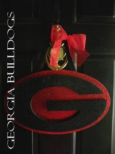 UGA  University of Georgia Bulldogs Door/Wall Hanger