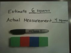 another cute idea for measurement with the foam blocks