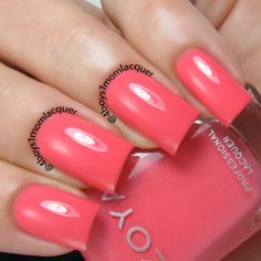 A Coral Nail Polish for all! Zoya Wendy from the Zoya Tickled Collection available on http://www.zoya.com