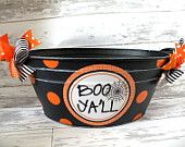 Personalized 5 Quart Halloween Bucket. $22.00, via Etsy.