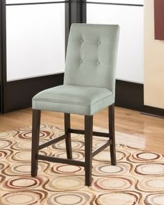 Newbold Upholstered Barstool in Spa (Set of 2)