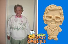 80th Birthday Ideas - Party Favor - Custom Cookies with medallion necklace
