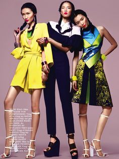 EDITORIAL: Jae Shin, Wang Xiao & Sung Hee in Elle Vietnam, March 2013