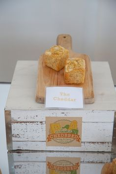 The line for this cheddar cornbread was long all night! | http://www.chedbred.com | #marthaweddingsparty