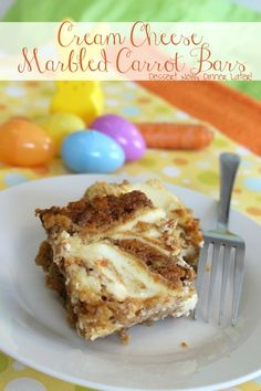 {Dessert Now, Dinner Later!} Cream Cheese Marbled Carrot Bars