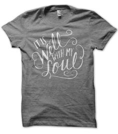 Adult M // Grey // It Is Well With My Soul by ekuboministries, $22.00