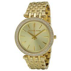 Michael Kors Darci Glitz Gold Dial Pave Bezel Ladies Watch MK3191