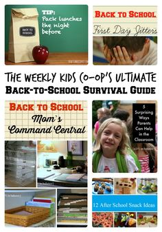 The Weekly Kids Co-Op's Ultimate Back to School Survival Guide  + The Kids Co-Op Link Party - #kids #backtoschool #parenting #kbn #binspiredmama