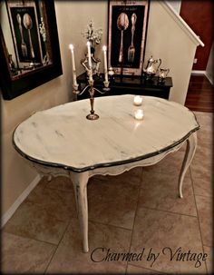 French Provincial White Shabby Glam Paris by Charmed By Vintage, $325.00 / Painted with Annie Sloan Chalk Paint