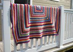 crochet one large granny square