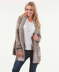 Holiday sweaters have arrived, here's Bryanna Holly in our Shambala Cardigan!