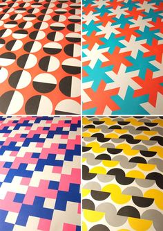 Great retro patterns. Grafika gift wrap from 1973, seen on papercrave.com.