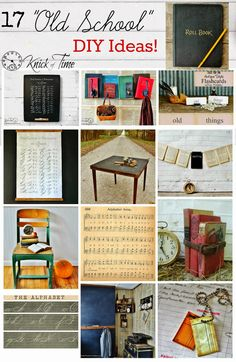 Back to School Decor Roundup - Old School Style! | Knick Of Time