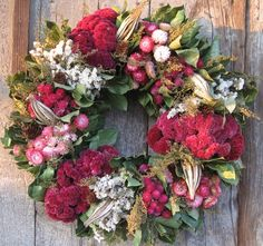 beautiful dried floral wreath!