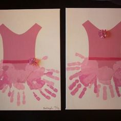 Angelina Ballerina (Handprint Crafts for Kids}    #handprints #kidscrafts #kids #ballet