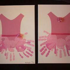 Angelina Ballerina (Handprint Crafts for Kids}    #handprints #kidscrafts #kids #ballet