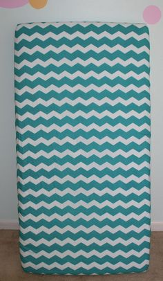 Teal Chevron Fitted Crib Sheet by KennediElleLLC on Etsy, $27.00