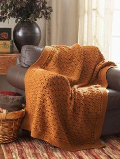 Peacock Feathers Afghan | Yarn | Free Knitting Patterns | Crochet Patterns | Yarnspirations
