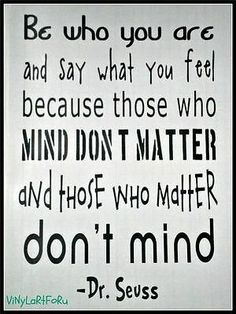 DR. SEUSS VINYL SUBWAY wall art quote THOSE WHO MATTER decal KIDS ROOM DECOR on eBay!