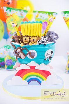Noahs Ark Cake - Learn to make it at www.designer-cakes.com