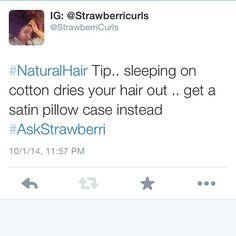 Have a #Naturalhair question?  Tweet me! @Strawberricurls #AskStrawberri #NaturalHair #NaturalHairTips
