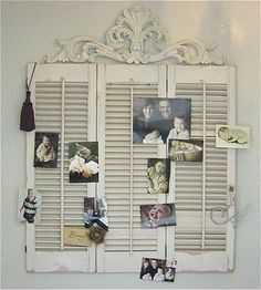 Could use my shutters...I like the metal fancy over the top.