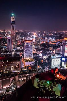 Amazing view of Bangkok, Thailand from Red Sky Bar
