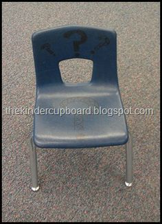 Stop student interruptions fast with this #behavior #management #question #chair. For more information, please visit #The #Kinder #Cupboard Blogspot.