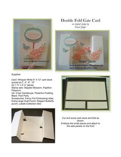 Double Gate Fold Card tutorial page1