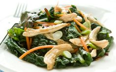 Soy Ginger Chicken and Winter Greens by wholefoodsmarket #Chicken #Ginger #Soy #Greens #Healthy