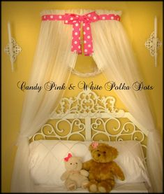Minnie Mouse Polka dot Princess Bed canopy CrOwN by SoZoeyBoutique, $69.92