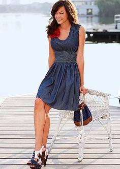 Cute denim dress!