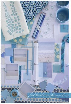 Blues + Ocean Inspiration Board