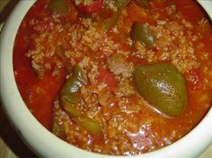 My Stuffed Bell Peppers Soup.  Another pinner wrote:  I've had 'stuffed pepper soup' at different eating establishments...but we prefer mine.  We like spice and lots of bell peppers!!