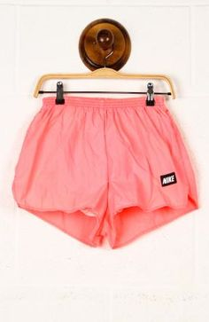 athletic wear, coral, nike shorts, cloth, colors, come backs, old school, closet, running shorts