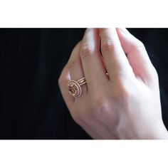 14 Karat Rose Gold OVAL Double Halo Diamond Morganite by SAMnSUE, $2460.00