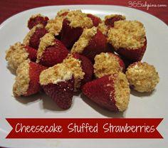Day 3: Date night: Cheesecake Stuffed Strawberries