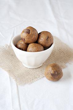 Raw Cookie Dough Bites -no eggs!