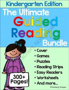Ultimate Guided Reading Bundle, Kindergarten Edition! 300+ Pages. Complete Set! from Kimberly's Kindergarten on TeachersNotebook.com -  (324 pages)  - 324 pages of Guided Reading games, activities, worksheets, easy/emergent readers, and more to warm up and super-charge your beginning readers! GR Levels A-E readers & materials.
