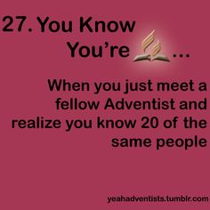 Small Adventist world !