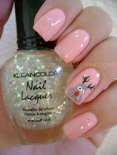 cute holiday nail w/