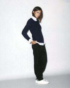 Céline's Phoebe Philo, exemplifying her effortless fashion sense.