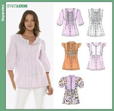 New Look 6781 from New Look patterns is a Misses Blouse sewing pattern