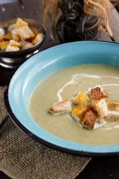 Creamy Leeks and Potato Soup.