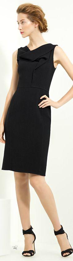Oscar de la Renta ● Black  Cowl Neck  Dress
